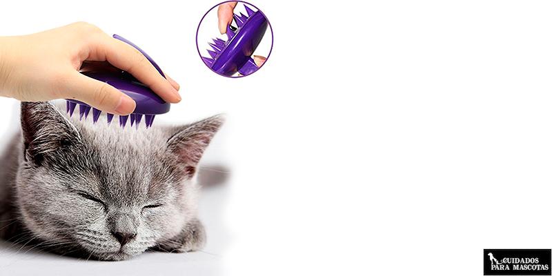 Cepillo de silicona para gatos