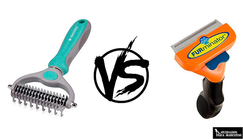 Cepillo de puas anchas vs furminator